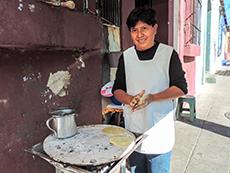 A street tortilla maker