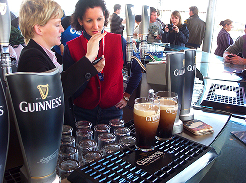people visiting the Guinness Storehouse, one of the popular things to do in Dublin