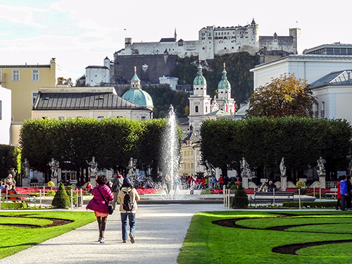 Visiting Mirabella Gardens, one of the best things to do in Salzburg