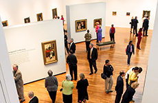 people in an art gallery