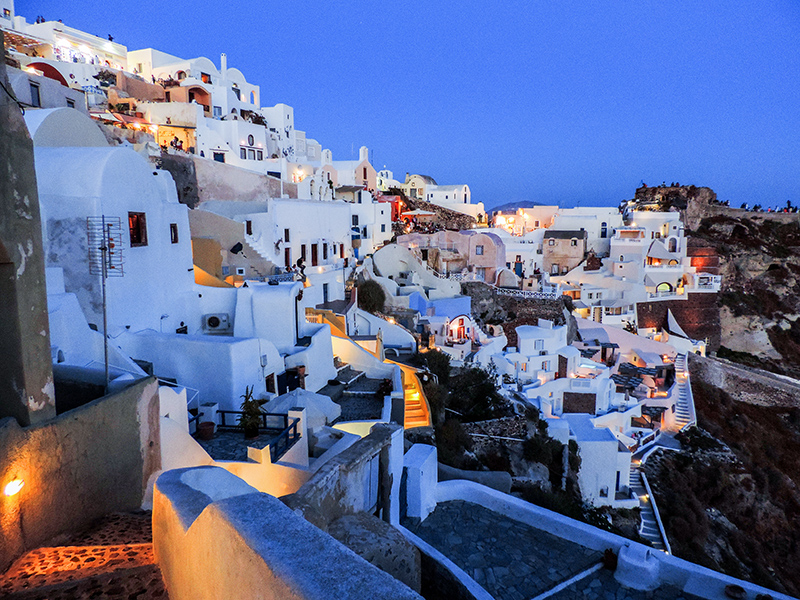 houses on a hillside at dusk a wonderful European experience