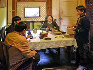 Lunch in No. 8 Restaurant near Lijiang