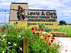 sign outside of the Lewis and Clark Interpretive Center