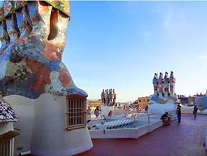 Rooftop chimneys of Casa Batllo