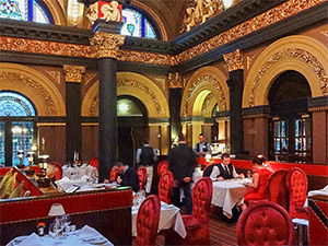 an ornate restaurant, seen on a Black Taxi tour of Belfast