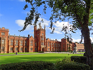an old university building, seen on a Black Taxi tour of Belfast