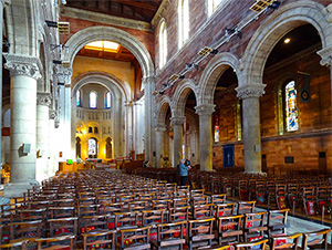 inside Belfast Cathedral, seen on a Black Taxi tour of Belfast