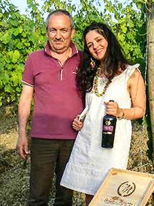 man and daughter in Irpinia vineyard
