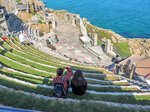 people in an amphitheater
