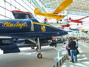 airplanes in a museum