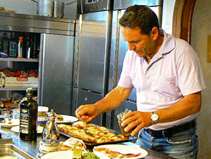 chef preparing lunch in Irpinia