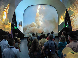 touring the Kennedy space center from Orland, watching a multi-media presentation