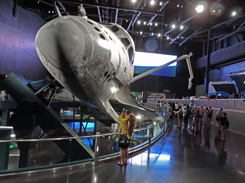 Visitor at the Kennedy Space Center from Orlando