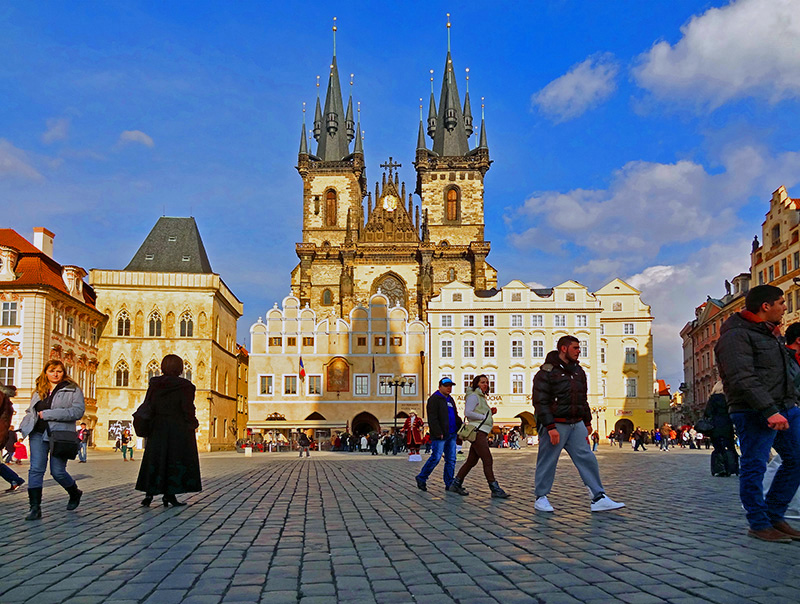 prague's old town, one of the places to see in Prague