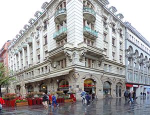 an Art-Nouveau style building