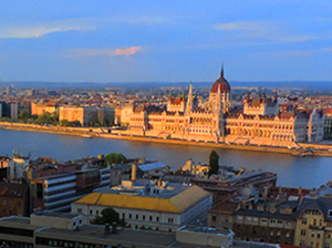 a large building in Budapest, one of the best Eastern European cities