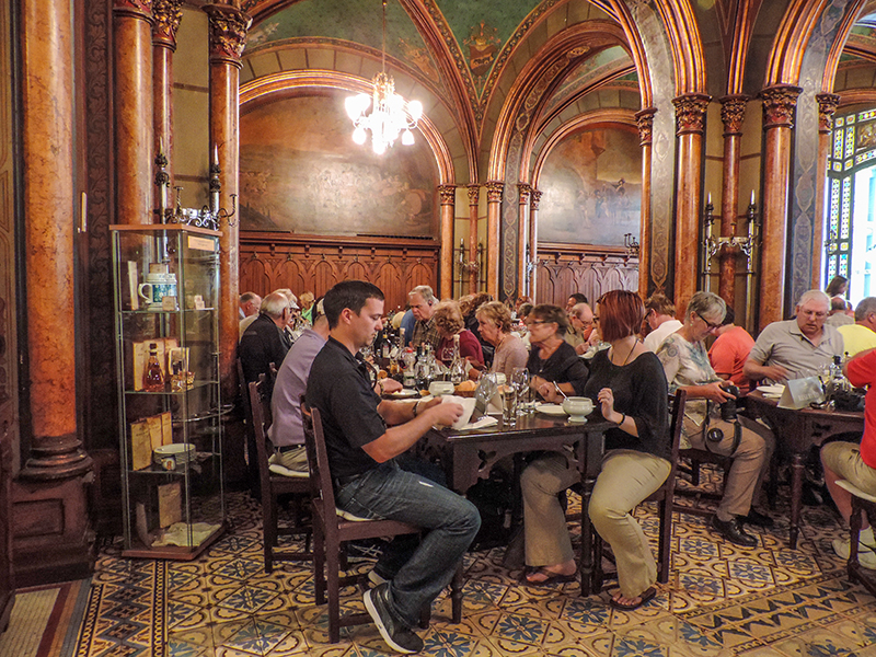 People in a restaurant in one fo the best Eastern European cities