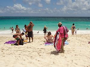 The public beach near Atlantis