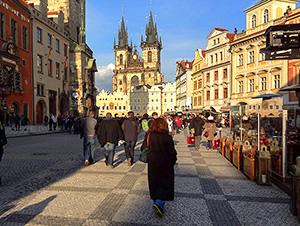 old medieval European buildings in Prague, one of the best Eastern European cities