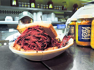 a sanwich on a counter
