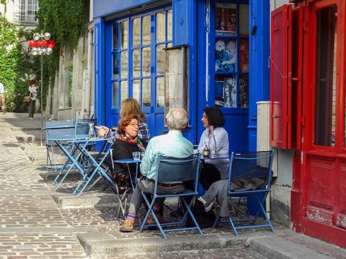 a cafe in Paris, one of my hidden gems