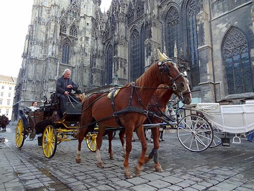 A horsdrawn carriage