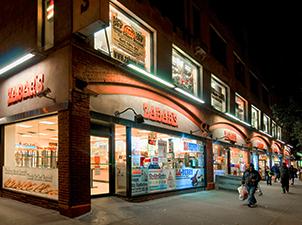 store windows at night
