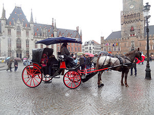 a horse and carriage