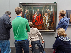 people in a museum