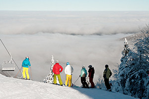 skiers Quebec's Eastern Townships