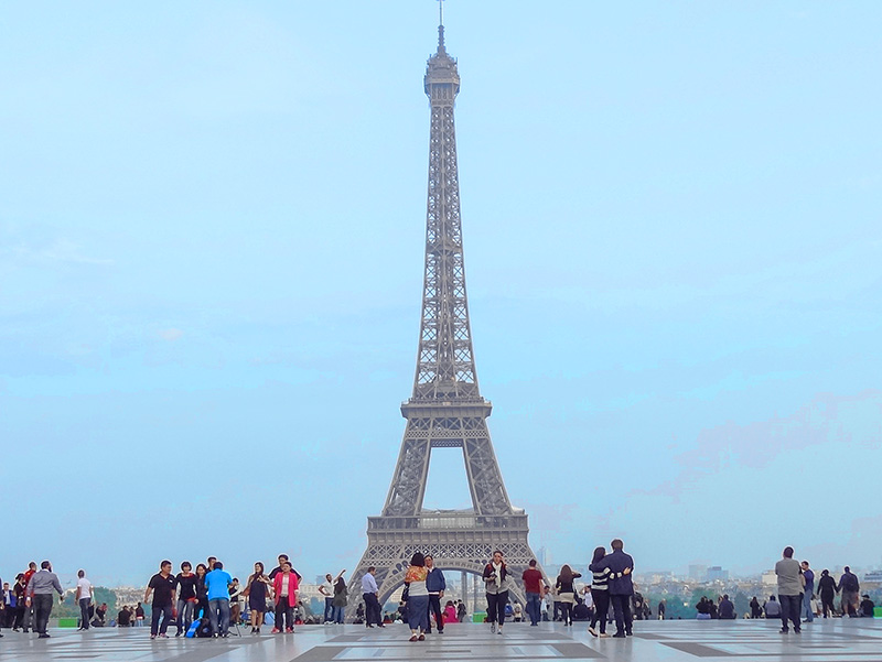 The Eiffel Tower, one of the top sightseeing places in Paris