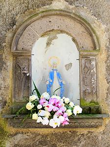 a shrine on the Amalfi Coast