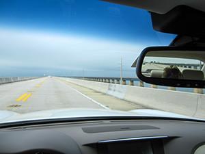 a roadway seen from a car