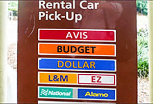 -rental car signs