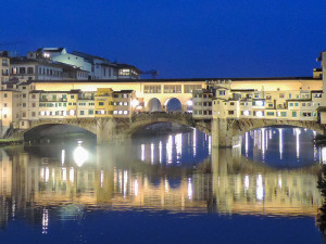 A bridge in Florence, easily reached by train