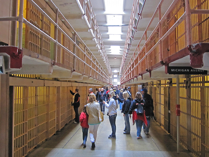 people touring alcatraz, a good thing to do during 3 days in San Francisco