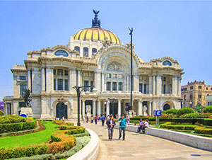 an ornate building in Mexico City, one of the places in Mexico City to visit
