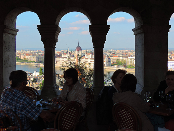 a city skyline in Budapest