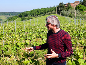 a man in a vineyard in Florence