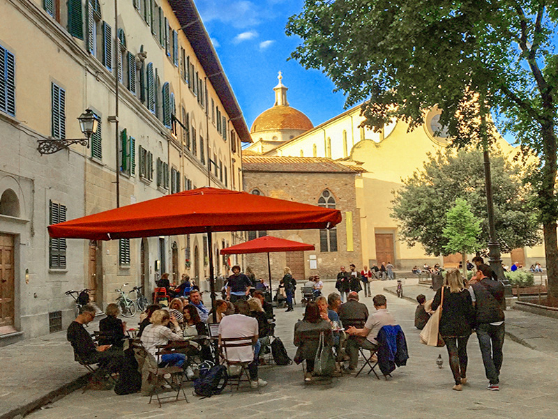 an outdoor cafe in Florence