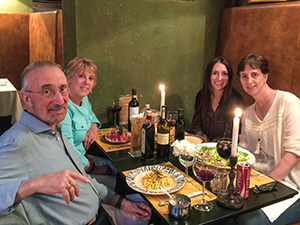 people at a restayrant table in FLorence