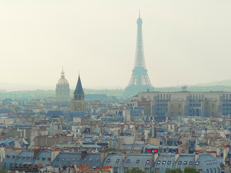 a view of Paris, one of the top places in France