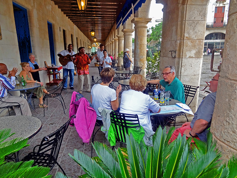 a cafe in the old city, one of the things to do in Havana