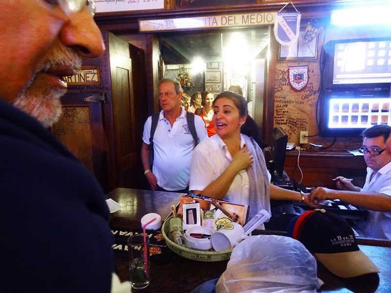 people in La Bodeguita del Medio, one of the things to see in Havana