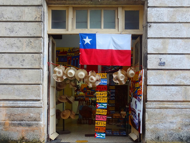 visiting a tourist shop, one of the things to do in Havana