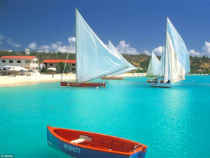 boats on as beach - guide to Caribbean islands