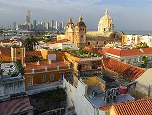 the skyline of Cartagena