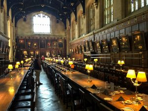 a university dining hall in England