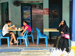 women sitting in a cafe