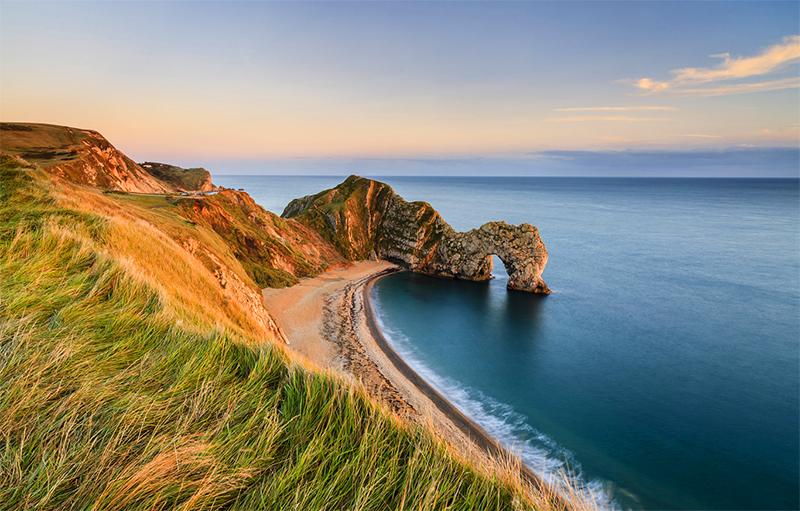 a wild coastline in England